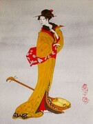 Courtesan with Shamisen - SOLD