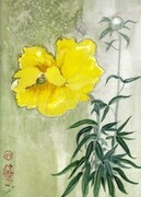 Yellow Peony - SOLD